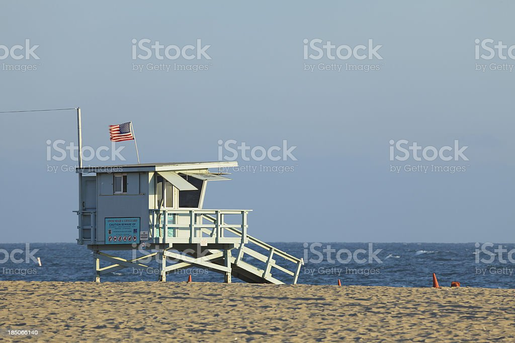 Lifeguard Hut royalty-free stock photo