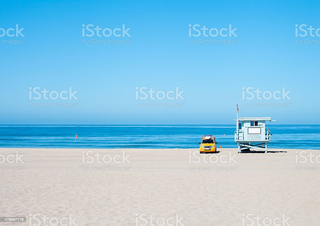 Lifeguard Hut stock photo