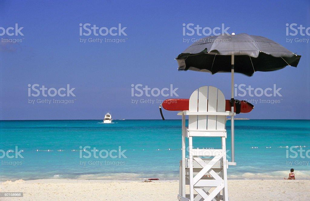 Lifeguard Off Duty stock photo