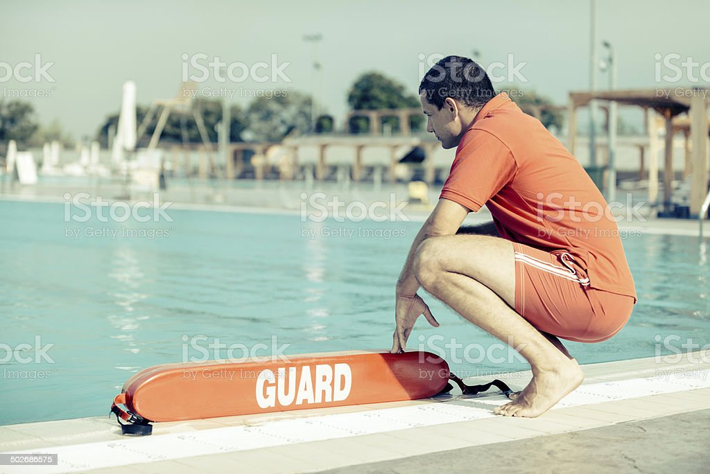Lifeguard on duty royalty-free stock photo