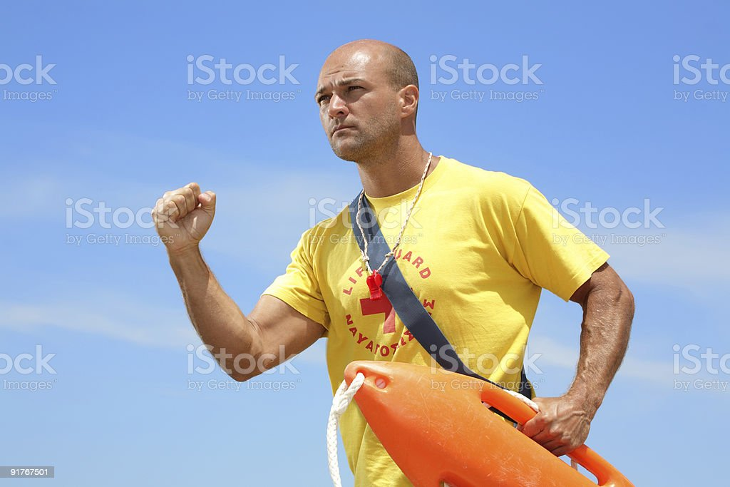 lifeguard on duty royalty-free stock photo