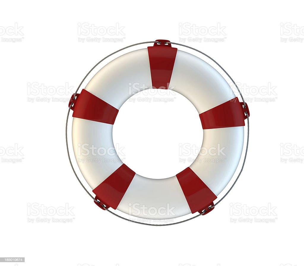 lifeguard on white background royalty-free stock photo