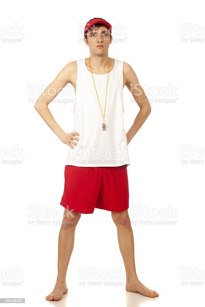 Lifeguard royalty-free stock photo