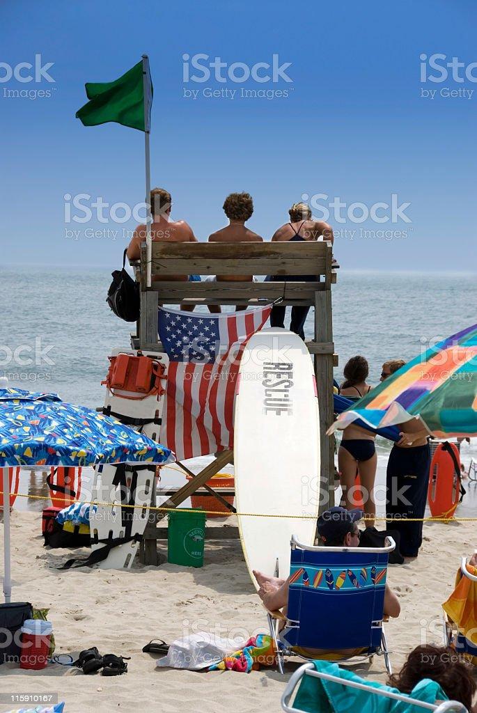 Lifeguard Rescue royalty-free stock photo