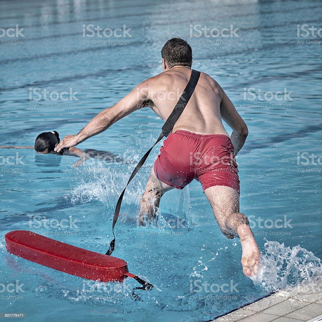 Lifeguard rescue stock photo