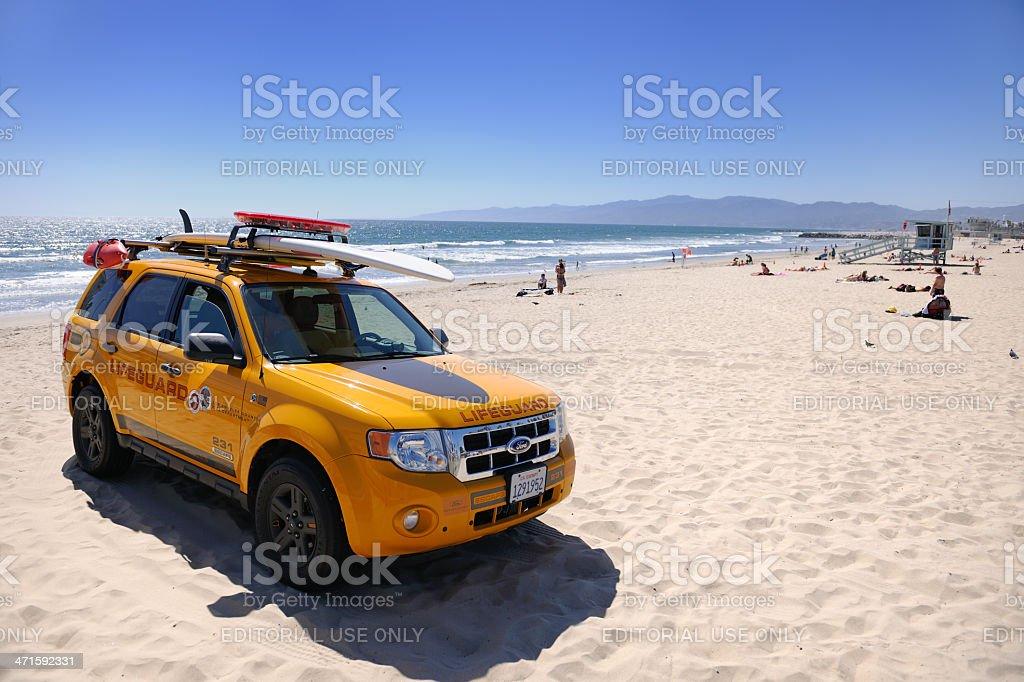 Lifeguard Rescue, Santa Monica Beach, California royalty-free stock photo