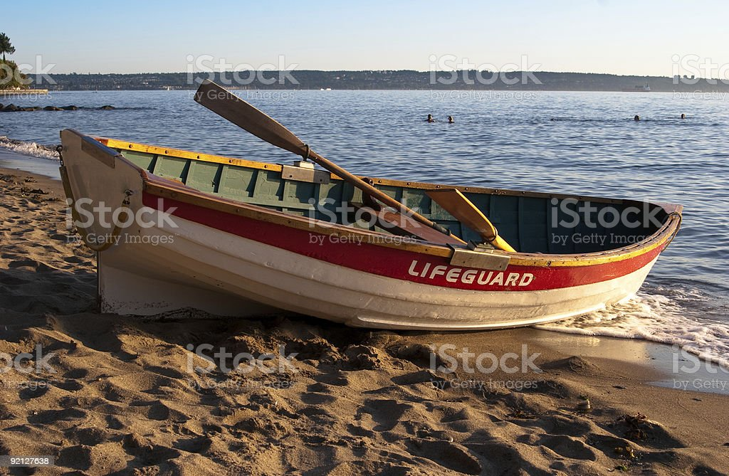 Lifeguard rowboat royalty-free stock photo