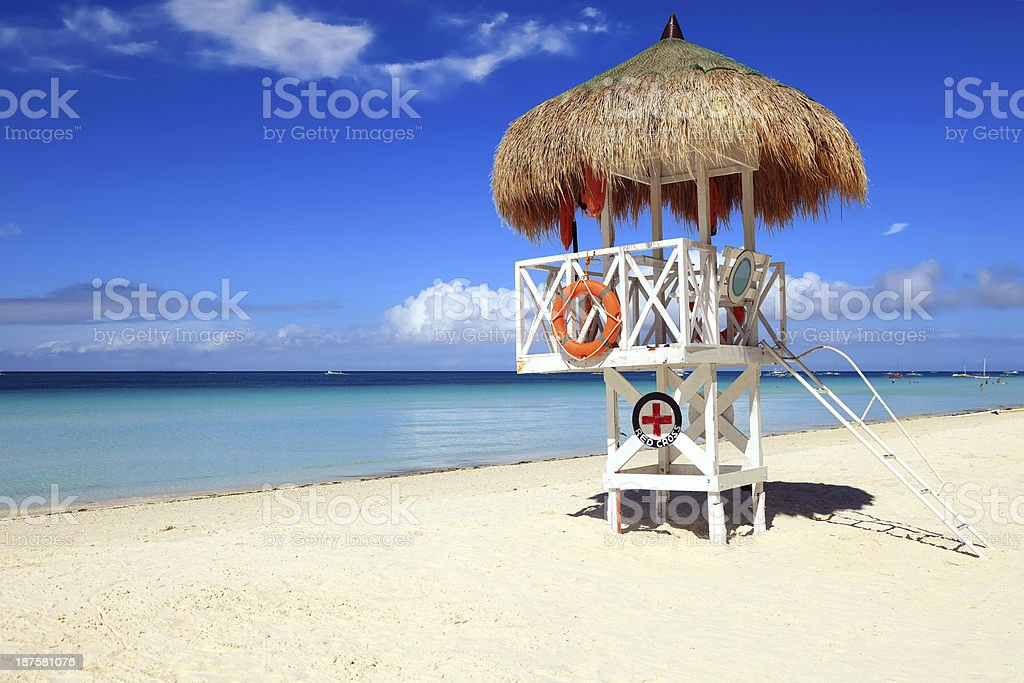 Lifeguard Shack royalty-free stock photo