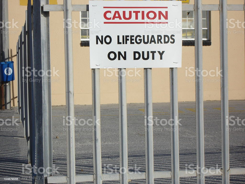Lifeguard Sign royalty-free stock photo