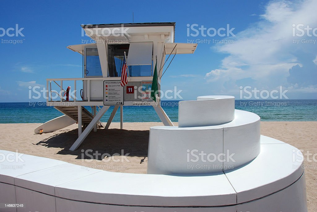 Lifeguard Stand at the Beach royalty-free stock photo