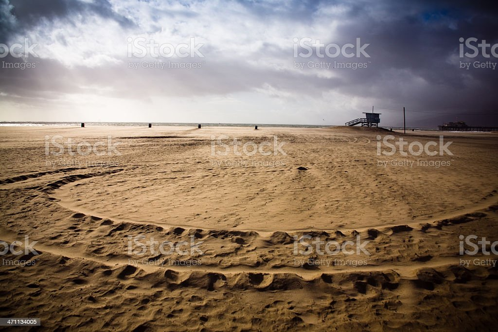 Lifeguard Stand on the Beach royalty-free stock photo