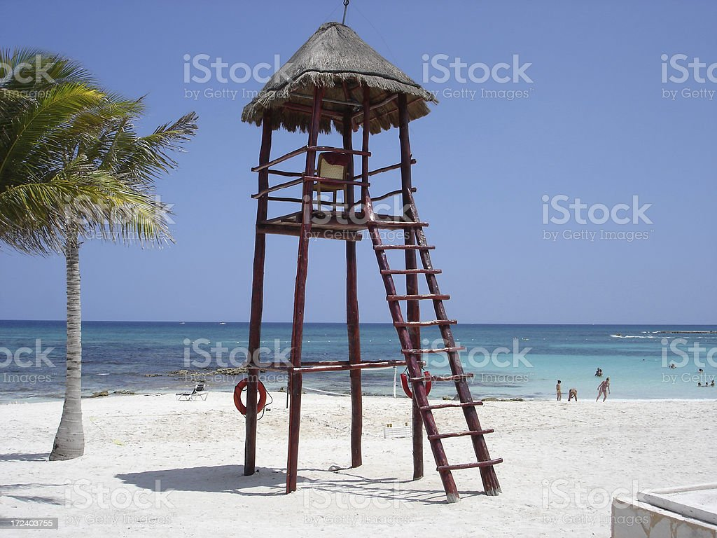 Lifeguard Stand stock photo