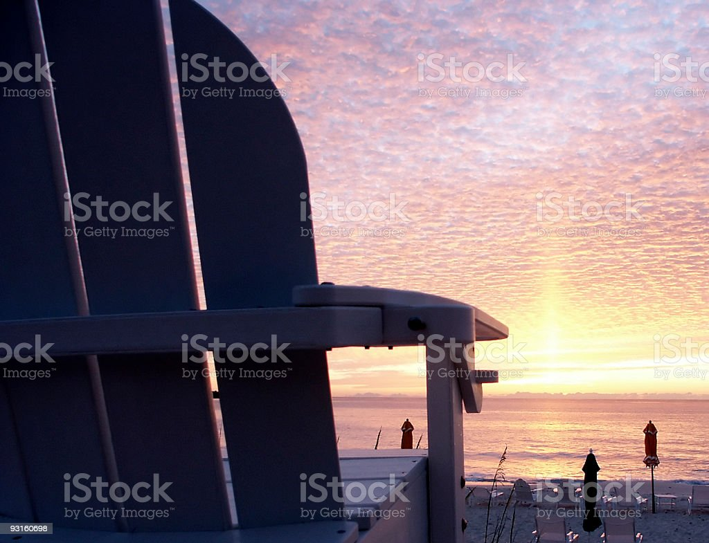 Lifeguard Stand royalty-free stock photo