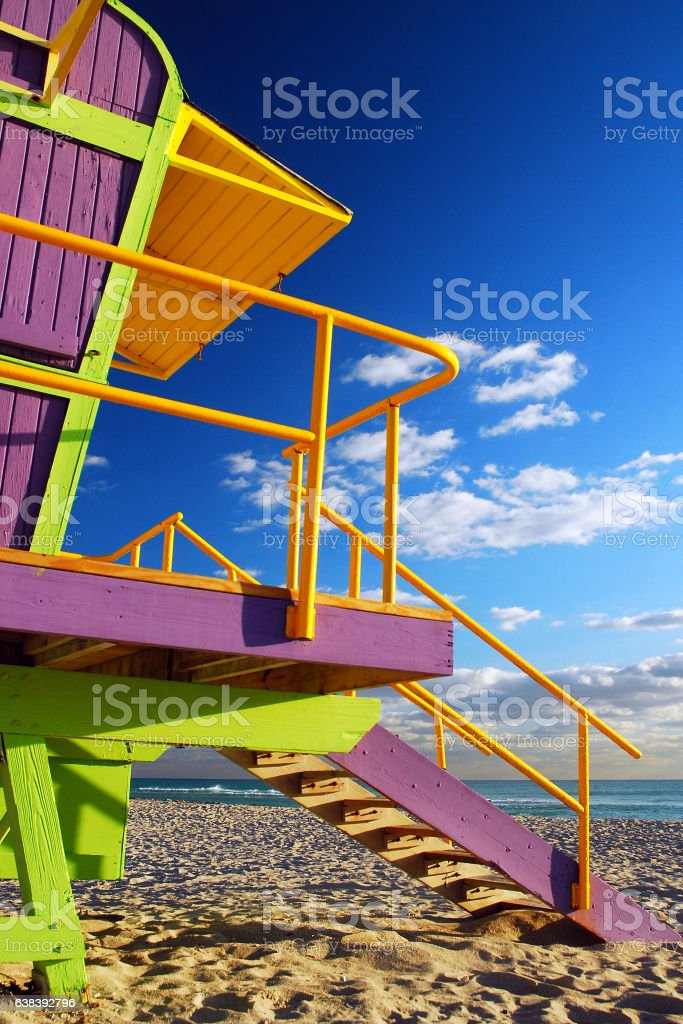 Lifeguard Stands stock photo