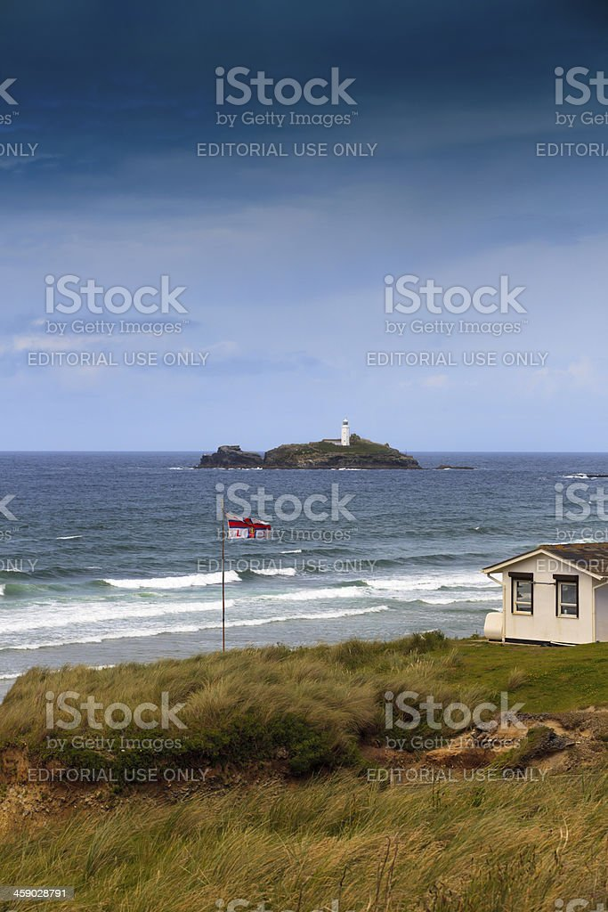 lifeguard station of the RNLI at Gwithian stock photo