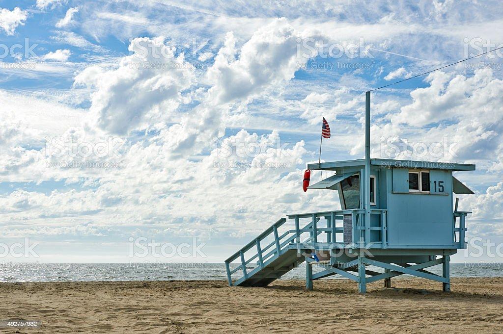 Lifeguard Station stock photo