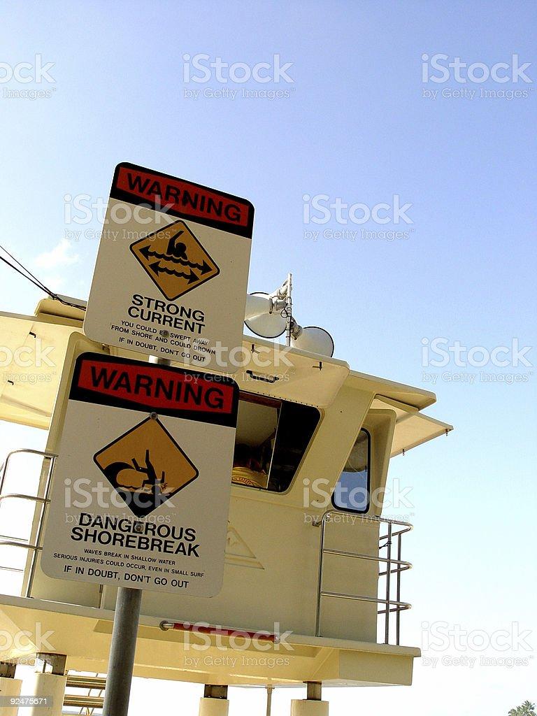Lifeguard station royalty-free stock photo