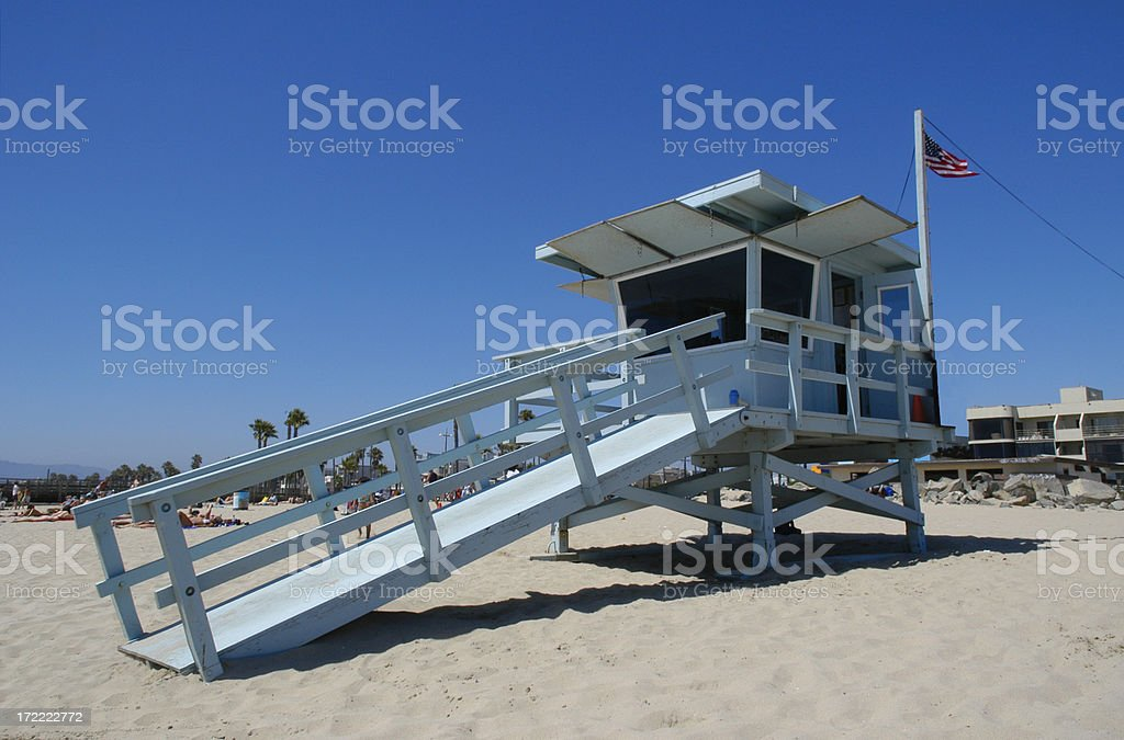 Lifeguard Station / Shack, Venice Beach, California royalty-free stock photo