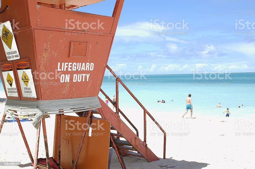 Lifeguard tower 3 royalty-free stock photo
