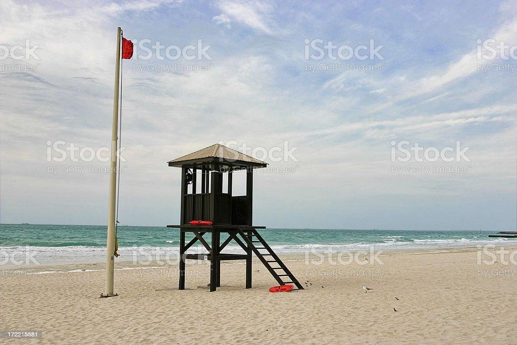 Lifeguard tower, Jumeirah Beach, Dubai royalty-free stock photo