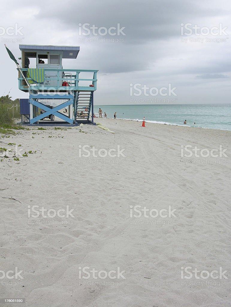 Lifeguard tower on Miami Beach royalty-free stock photo