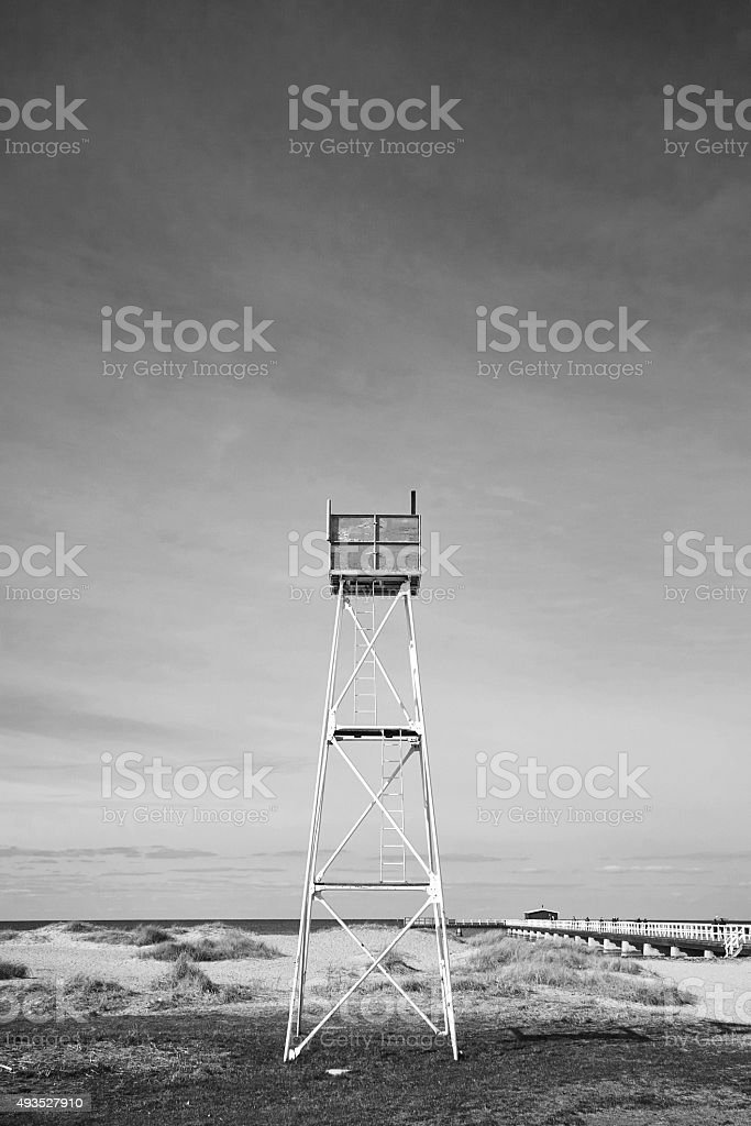 Lifeguard Tower, Ribersborg, Malmö, Sweden stock photo