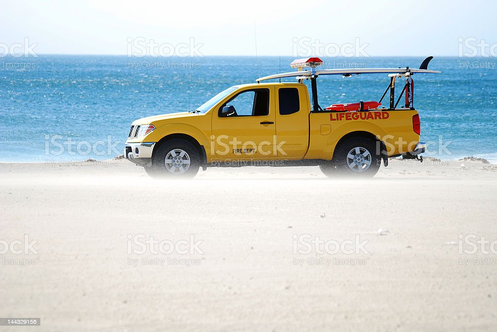 Lifeguard Truck royalty-free stock photo