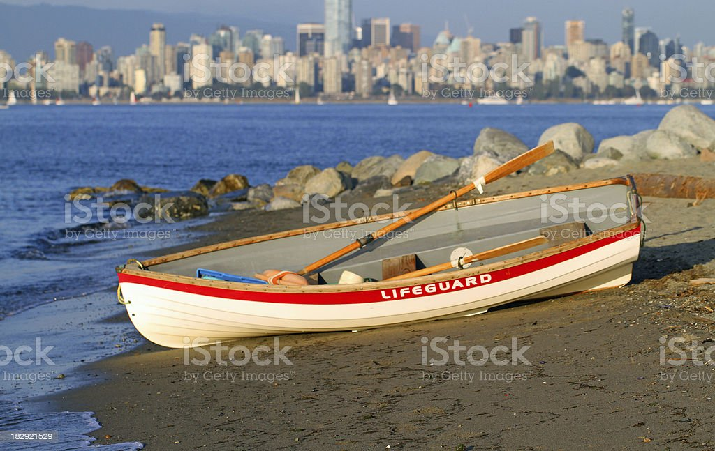 Lifeguarding in Vancouver royalty-free stock photo