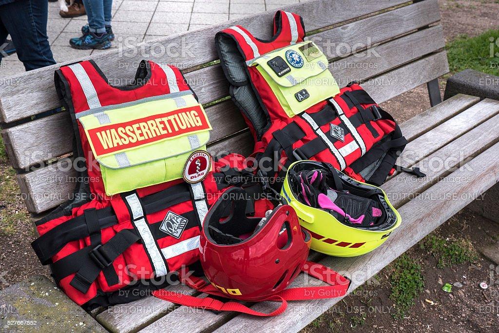 Lifeguards equipment - DLRG stock photo