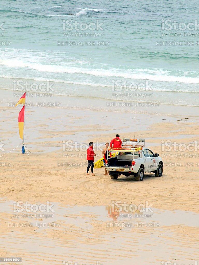 Lifeguards. stock photo