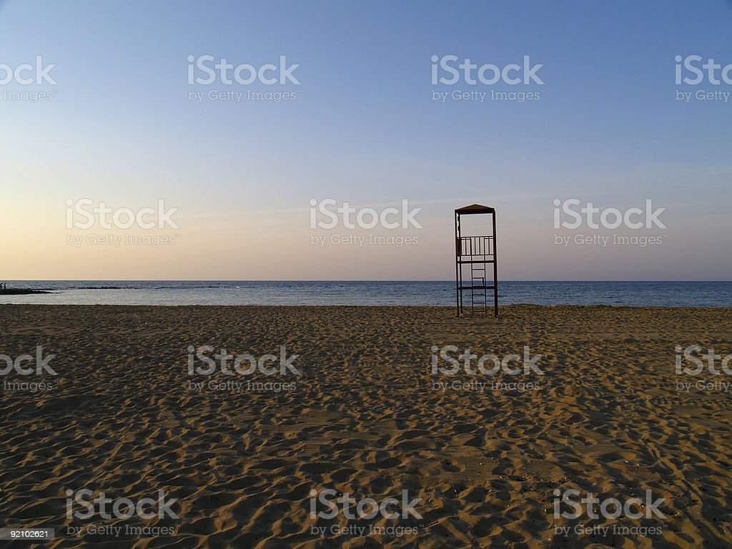 lifeguard´s tower royalty-free stock photo