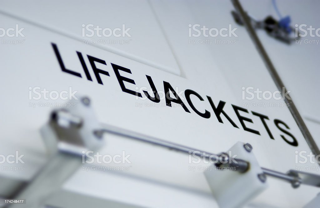 Lifejacket compartment royalty-free stock photo