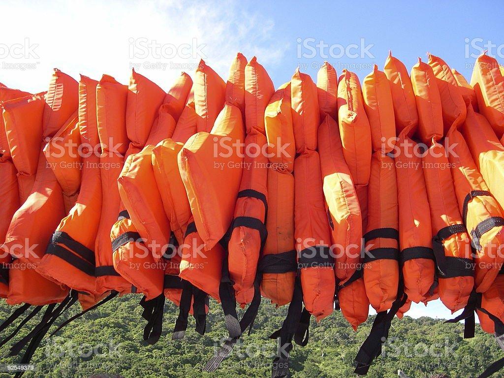 Lifejackets royalty-free stock photo