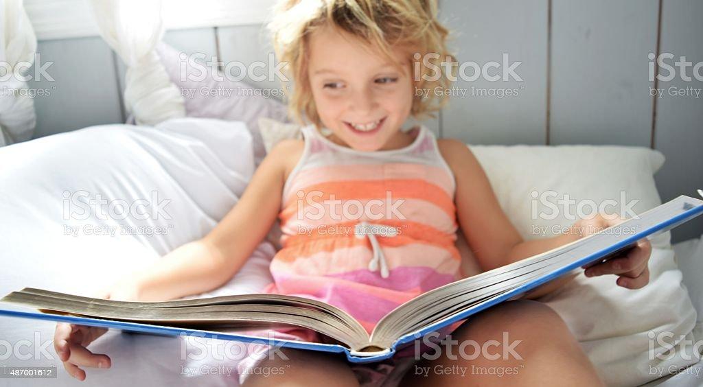 Lifelong reader stock photo