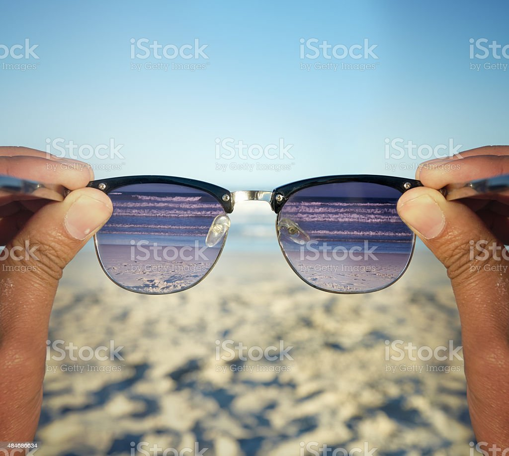 Life's better at the beach stock photo