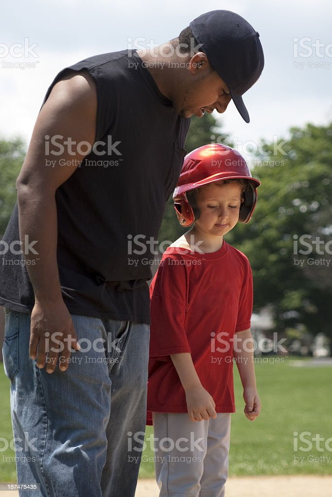 Life's Lessons - Mentoring Baseball royalty-free stock photo