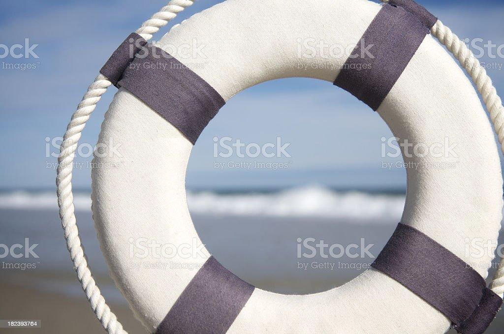 Lifesaver Beach Background stock photo