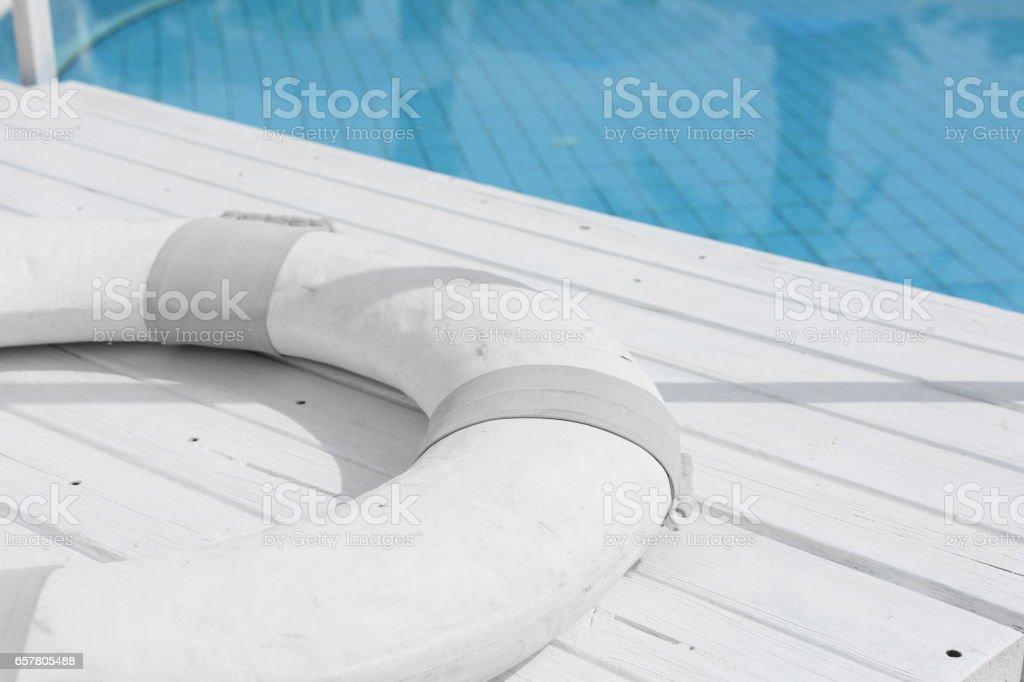Lifesaver, swimming pool stock photo