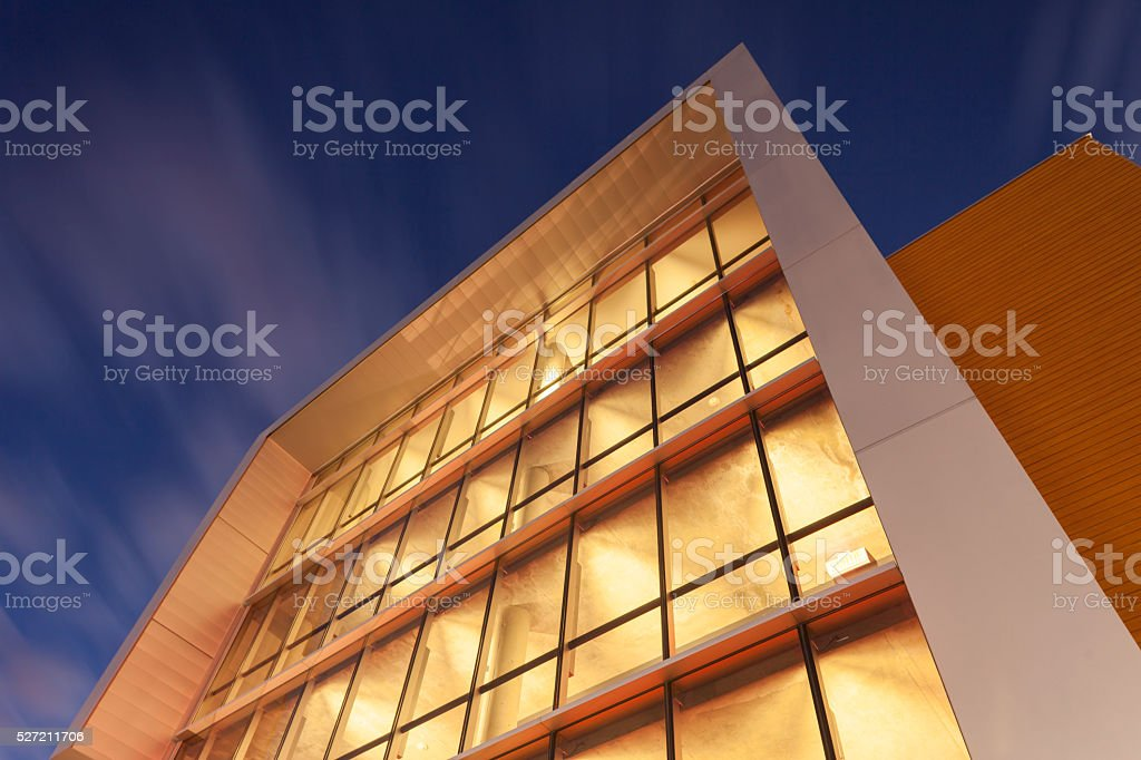 lifestyle apartments at dusk stock photo