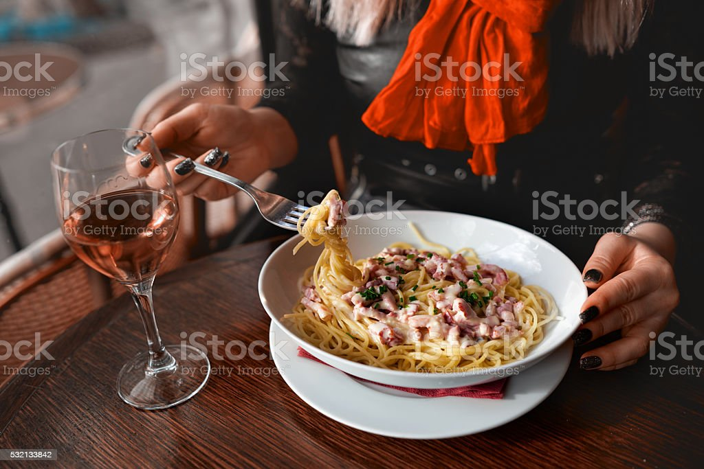 lifestyle at restaurant stock photo