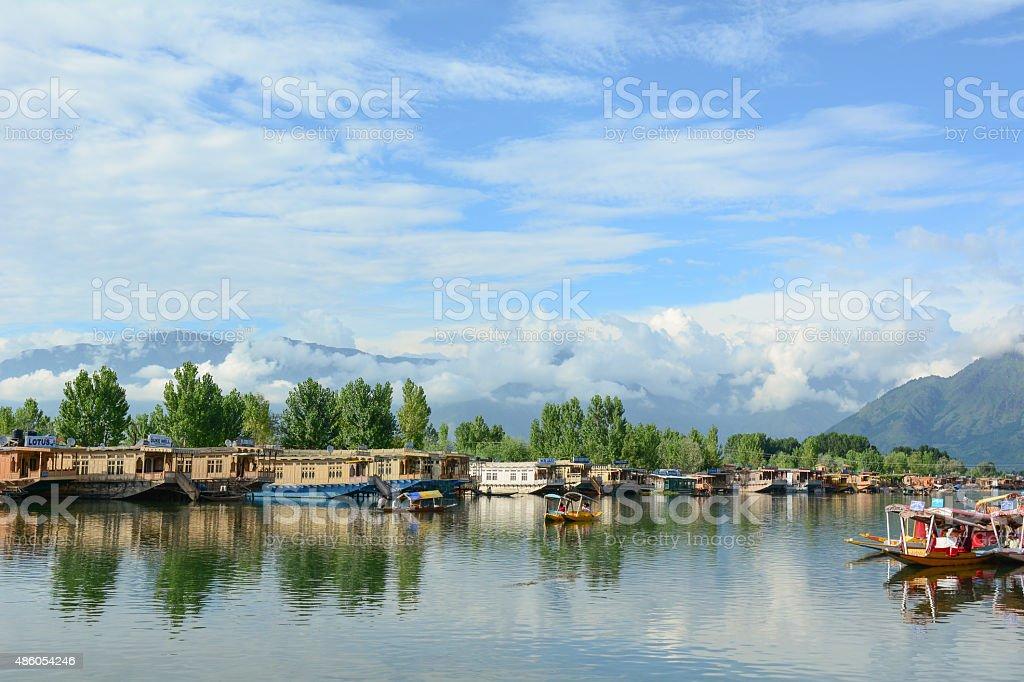 Lifestyle in Dal lake, Srinagar stock photo
