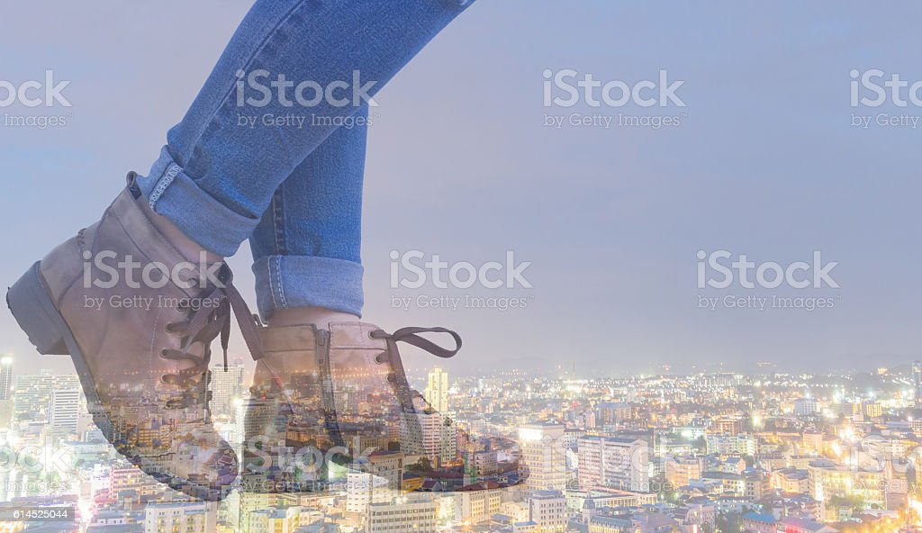 lifestyle in the city stock photo