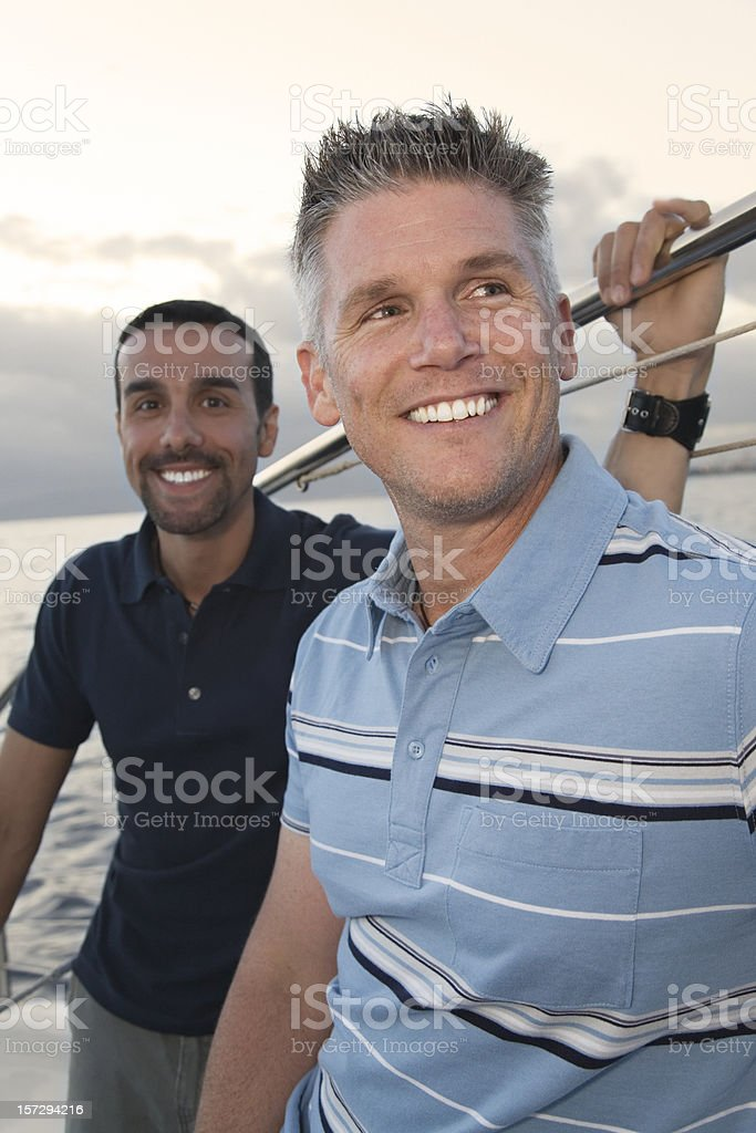 Lifestyle: Men on a Boat royalty-free stock photo