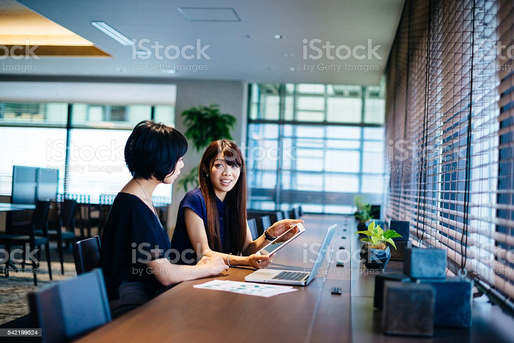 Lifestyle of modern Japanese businesswomen stock photo