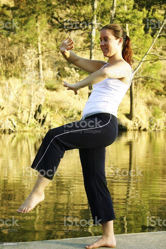 Lifestyle - Yoga / Close Up royalty-free stock photo