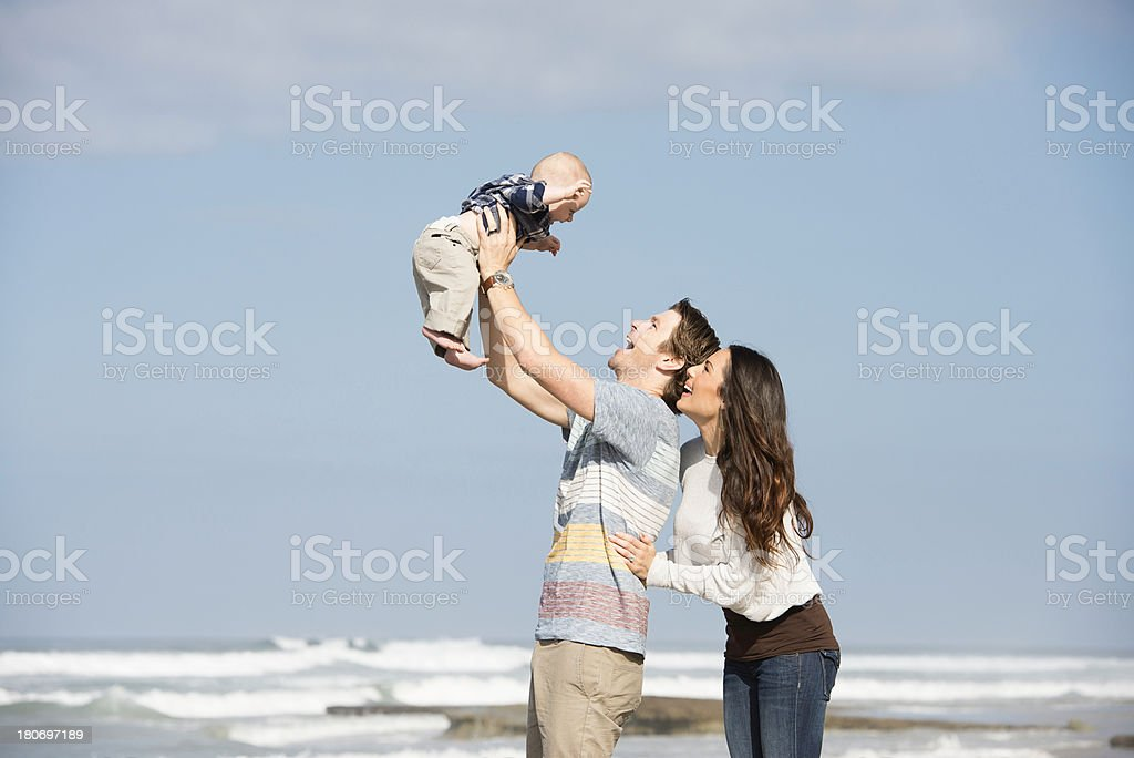 Lifestyles: Family Fun at the Beach royalty-free stock photo
