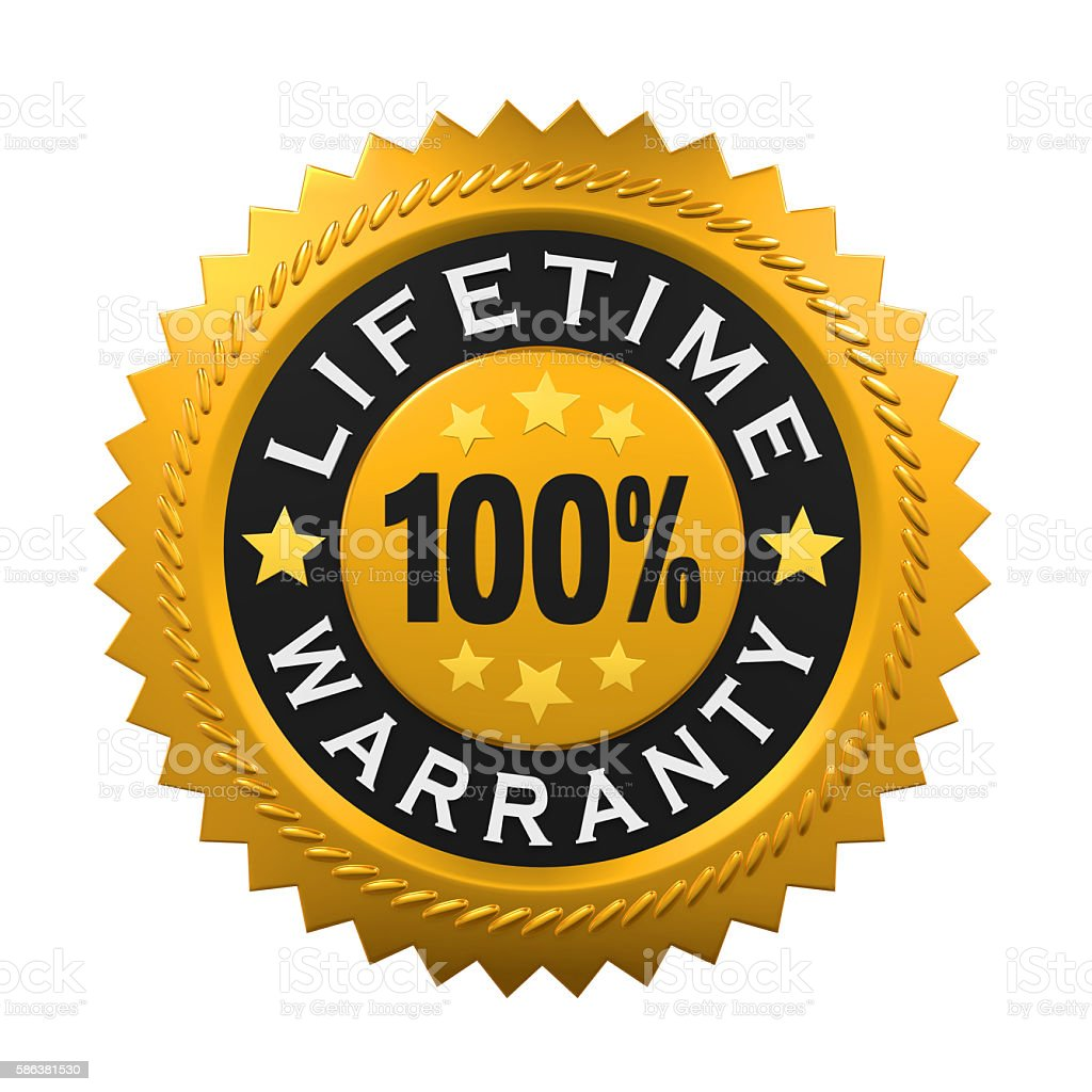 Lifetime Warranty Sign stock photo
