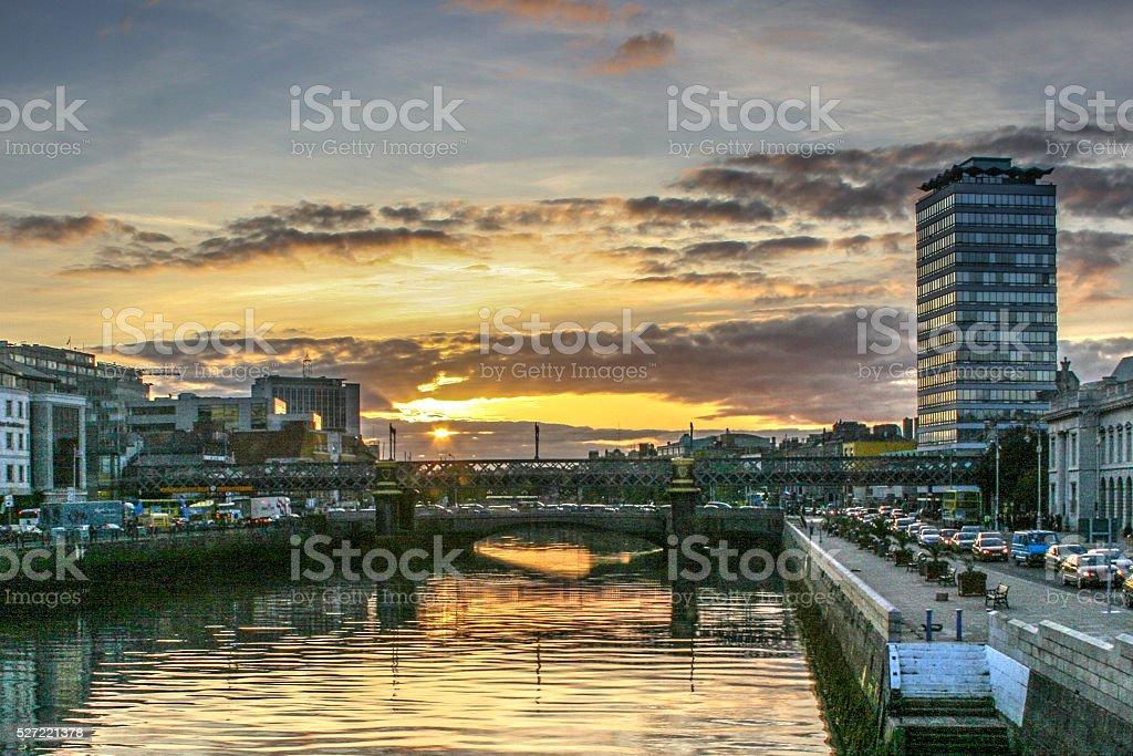 Liffey River Dublin Ireland stock photo
