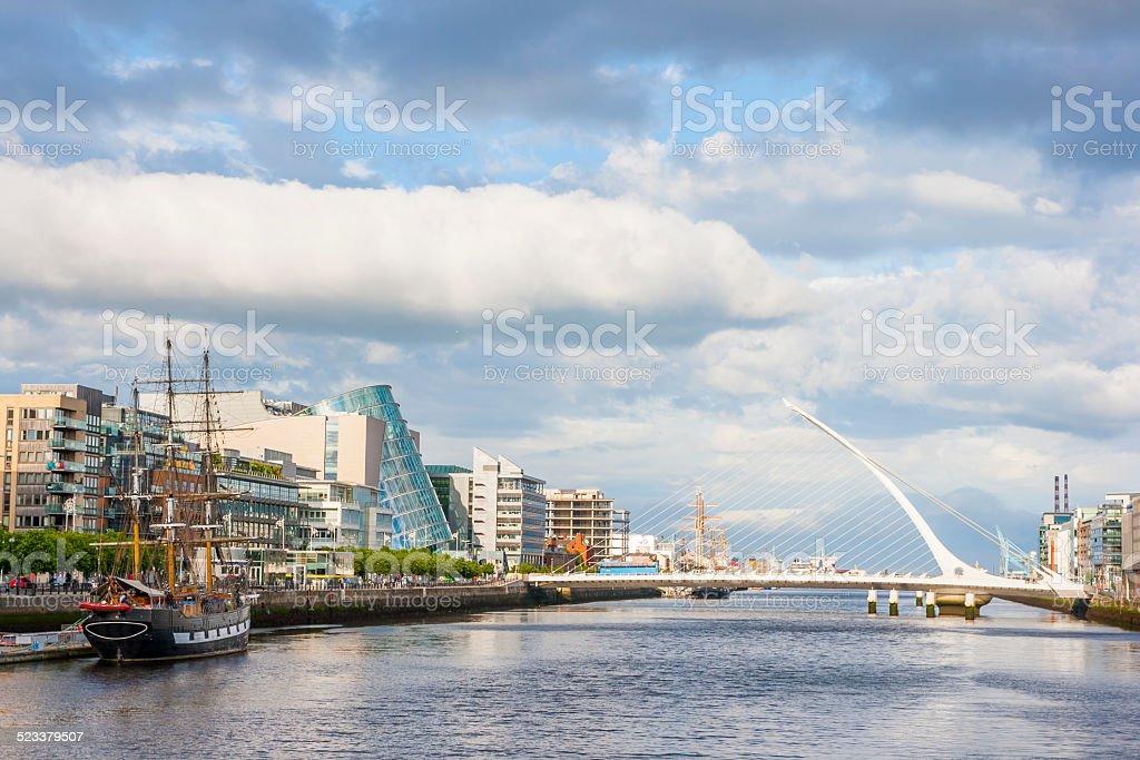 Liffey River in Dublin stock photo