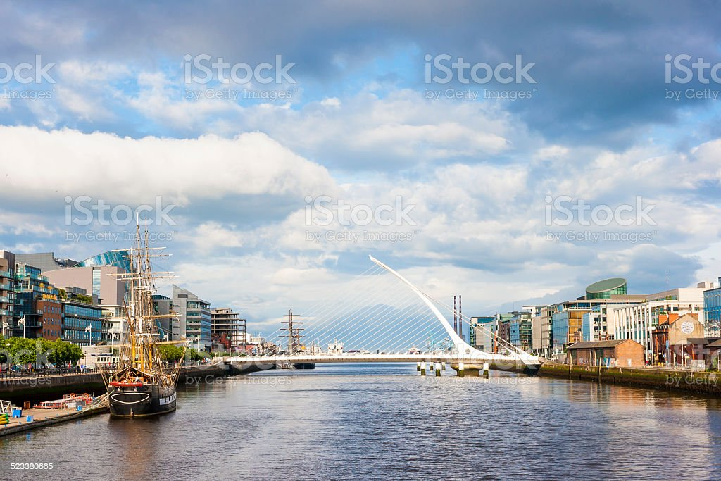 Liffey River in Dublin stock photo